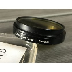 LEITZ LEICA FIRAD GRADUAL YELLOW FILTER - A36 PUSH-ON BLACK