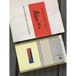 INSTRUCCIONES PARA LA LEICA IIIg - 1957